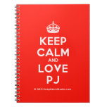 [Crown] keep calm and love pj  Notebooks