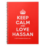 [Crown] keep calm and love hassan  Notebooks