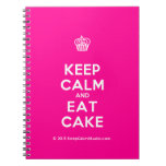 [Cupcake] keep calm and eat cake  Notebooks