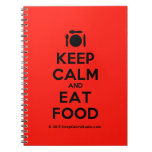 [Cutlery and plate] keep calm and eat food  Notebooks