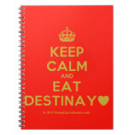 [Crown] keep calm and eat destinay♥  Notebooks