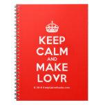 [Crown] keep calm and make lovr  Notebooks