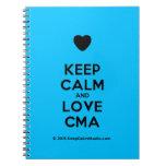 [Love heart] keep calm and love cma  Notebooks