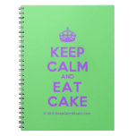 [Crown] keep calm and eat cake  Notebooks