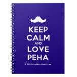 [Moustache] keep calm and love peha  Notebooks