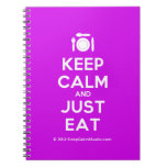 [Cutlery and plate] keep calm and just eat  Notebooks