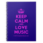[Dancing crown] keep calm and love music  Notebooks