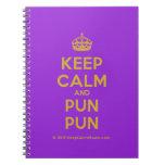 [Crown] keep calm and pun pun  Notebooks