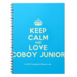 [Crown] keep calm and love coboy junior  Notebooks