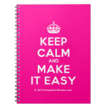 [Crown] keep calm and make it easy  Notebooks