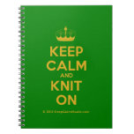 [Knitting crown] keep calm and knit on  Notebooks