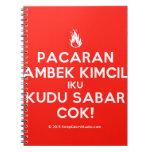 [Campfire] pacaran ambek kimcil iku kudu sabar cok!  Notebooks