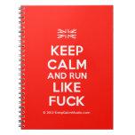 [UK Flag] keep calm and run like fuck  Notebooks