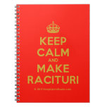 [Crown] keep calm and make racituri  Notebooks