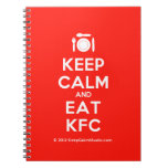 [Cutlery and plate] keep calm and eat kfc  Notebooks