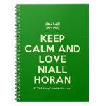 [UK Flag] keep calm and love niall horan  Notebooks
