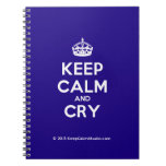 [Crown] keep calm and cry  Notebooks