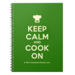 [Chef hat] keep calm and cook on  Notebooks