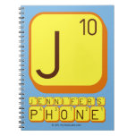 J JENNIFER'S PHONE  Notebooks