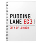 PUDDING LANE  Notebooks