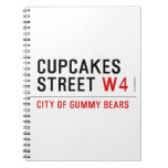 cupcakes Street  Notebooks