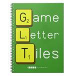 Game Letter Tiles  Notebooks