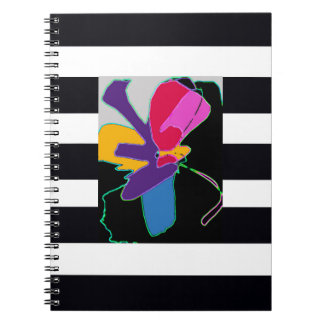 Notebooks Fine Art with BLACK AND WHITE STRIPES