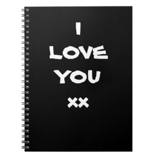 NOTEBOOKS Notebook with I LOVE YOU xx