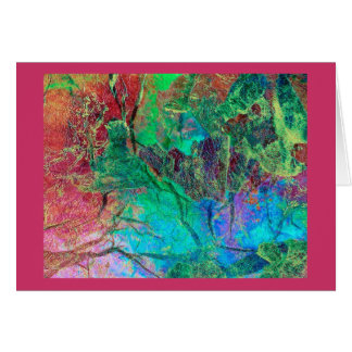Notecard abstracto tarjeta pequeña