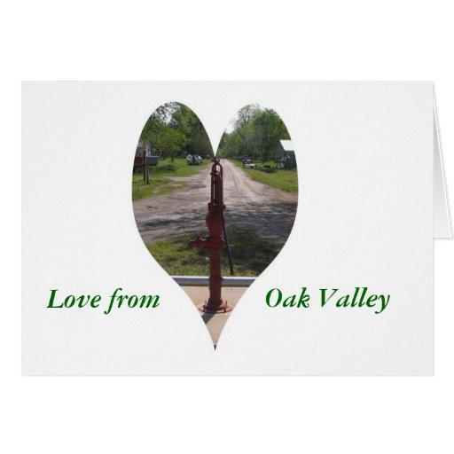 Notecard: Amor del valle del roble Tarjetas
