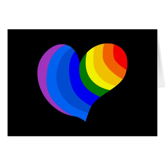 Notecard-Art of Love-Rainbow Heart Card