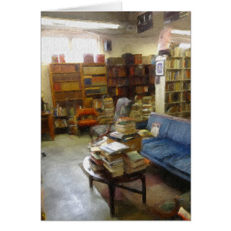 Notecard: At The Used Book Store Card