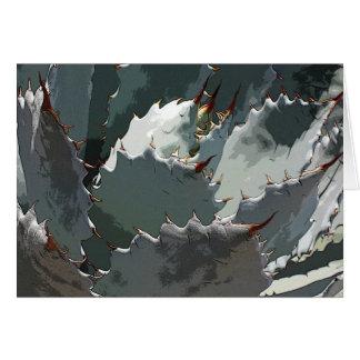 Notecard azul del agavo tarjeta de felicitación
