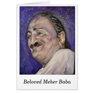 Notecard-- Beloved Meher Baba Stationery Note Card