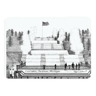 """Notecard - black&White de Jackson Michigan de las Invitación 5"""" X 7"""""""