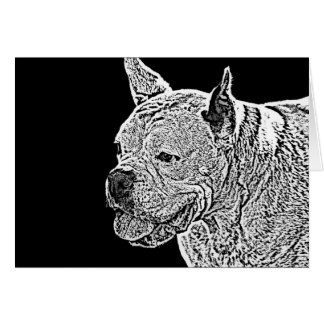 notecard blanco del perro del boxeador felicitacion