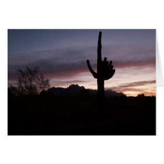 Notecard Blue Mist of Sunset Arizona Greeting Card