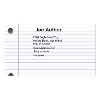 Notecard Business Card