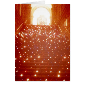 Notecard: Candlelit Stairs, Metropolitan Museum NY Card