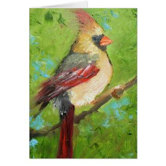 notecard cardinal tarjeta pequeña