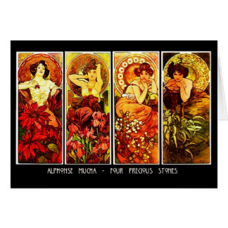 Notecard-Classic/Vintage-Mucha 13 Card
