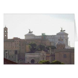 Notecard - colina capital, Roma Tarjeta Pequeña