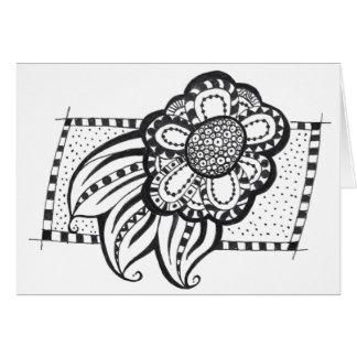 Notecard con diseño floral tarjeta pequeña