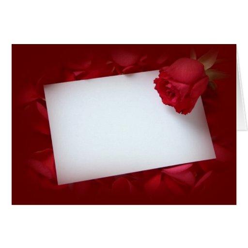 NoteCard con el rosa rojo - personalizable con su  Tarjetón