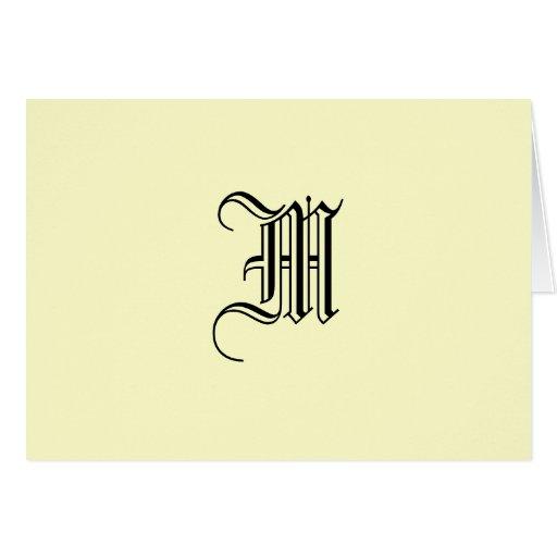 Notecard con monograma tarjeta pequeña