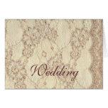Notecard - cordón del boda del vintage felicitacion