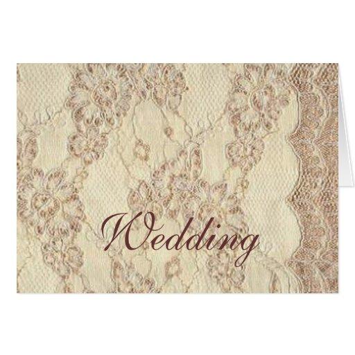 Notecard - cordón del boda del vintage tarjeta pequeña