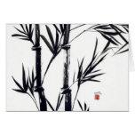 notecard de bambú del arte tarjetas