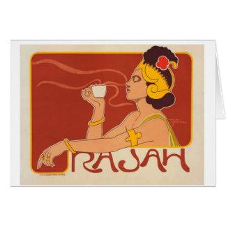 Notecard de Café Rajah Tarjeton