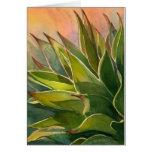 Notecard de la acuarela del agavo tarjeta de felicitación
